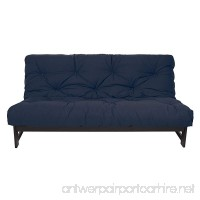 Mozaic Full Size 5-inch Cotton Twill Futon Mattress Navy - B06VSXBXZW