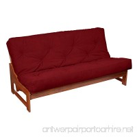 Mozaic Full-size 8-inch Red Suede Gel Memory Foam Futon Mattress - B073L5LJLT