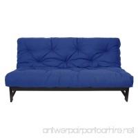 Mozaic Queen Size 6-inch Cotton Twill Futon Mattress  Blue - B005QGZ74W
