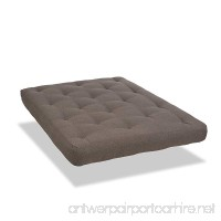 SertaRedbud Double Sided Pocketed Coil Futon Mattress  Queen  Antelope  Made in the USA - B00DZFE00I