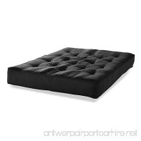 "Simmons Beautyrest Queen 8"" Pocketed Coil Innerspring Futon Mattress Black Microfiber - B072R5Z5WY"