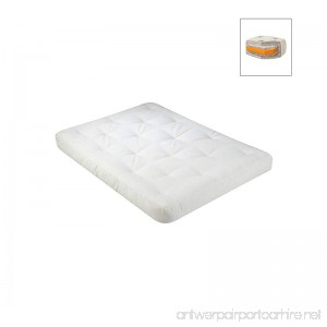 WOLF USF-2 6 Inch Futon Mattress with 2 Inch Foam Core in Natural - Full - B00PXVHNG0