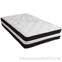 Flash Furniture Capri Comfortable Sleep 12 Inch Foam and Pocket Spring Mattress  Twin in a Box - B079ZJDBJK