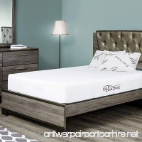 Fortnight Bedding 10 inch Queen Size Memory Gel Infused Foam Mattress with White stretch knit fabric - CertiPUR-US Certified – 10 year warranty - Made in USA - B01N6BS9ST