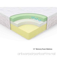"KING Spa Sensations 12"" Theratouch Memory Foam Mattress - B00CIULG7G"