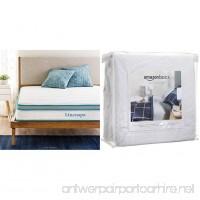 "Linenspa 8"" Memory Foam and Innerspring Hybrid Mattress  Twin with AmazonBasics Hypoallergenic Vinyl-Free Waterproof Mattress Protector  Twin - B078JDXSCS"