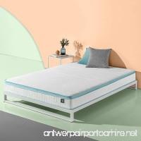 Zinus 8 Inch Mint Green Memory Foam Hybrid Spring Mattress Full - B07CYDM47T