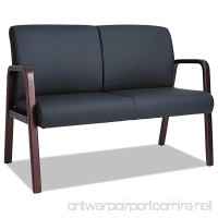 Alera ALERL2219M Reception Lounge Series Wood Loveseat 44 7/8 x 26 1/8 x 33 Black/Mahogany - B00O472R8I