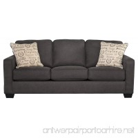 Ashley Furniture Signature Design - Alenya Sleeper Sofa with 2 Throw Pillows - Queen Size - Vintage Casual - Charcoal - B01LWUVJFD