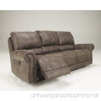Ashley Furniture Signature Design - Oberson Manual Recliner Sofa - Pull Tab Reclining - Gunsmoke - B01F8MB6RK