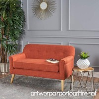 Christopher Knight Home 301299 Mariah Modern Loveseat Muted Orange - B07CVRH24N