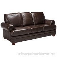 Coaster Colton Traditional Brown Leather Sofa with Elegant Design Style - B00BGUPVES