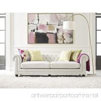 Elle Decor Amery Tufted Sofa Bonded Leather Ivory - B075TSCDWX
