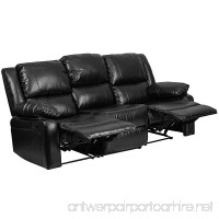 Flash Furniture Harmony Series Black Leather Sofa with Two Built-In Recliners - B01NALUGCI