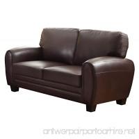 Homelegance 9734DB-2 Upholstered Loveseat Dark Brown Bonded Leather Match - B00U256G10