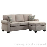 Homelegance Clumber 82 Reversible Sectional with Accent Pillows Beige - B079C6TX76