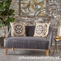 Jasper Mid Century Modern Fabric Loveseat (Dark Grey) - B07568LRK9
