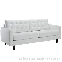 Modway Empress Mid-Century Modern Upholstered Leather Sofa In White - B00HVVY8IQ