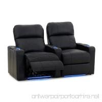 Octane Turbo XL700 Row of 2 Seats  Straight Row in Black Leather with Power Recline - B00OJPRPIM