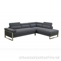 Poundex F6539 Bobkona Cerviel Sectional Set  CHARCOAL - B075JTKQTS