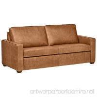 "Rivet Andrews Modern Classic Top-Grain Leather Sofa  82"" W  Cognac - B072635QWD"