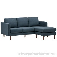 "Rivet Revolve Modern Reversible Chaise Sectional  80"" W  Denim - B072FVHRZ1"