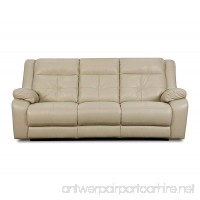 Simmons Upholstery Miracle Pearl Bonded Leather Double Motion Sofa - B00NNF1T18