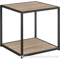 Ameriwood Home Canton Accent Table with Metal Frame Distressed Gray Oak - B00KTVTW2C
