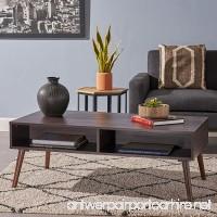 Andy Mid Century Modern Fuax Wood Overlay Coffee Table  Dark Walnut - B07C8H2KK9