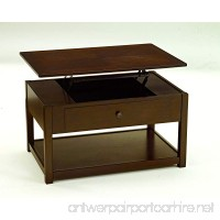 Ashley Furniture Signature Design - Marion Lift Top Coffee Table - 1 Drawer and 1 Fixed Shelf - Contemporary - Dark Brown - B01FFSC48M