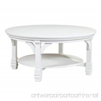 Ashley Furniture Signature Design - Mintville Contemporary Round Cocktail Table - White - B075817QL7