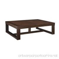 Ashley Furniture Signature Design - Watson Coffee Table - Cocktail Height - Rectangular - Dark Brown - B0012ZPH2I