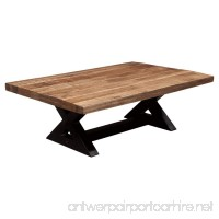 Ashley Furniture Signature Design - Wesling Coffee Table - Cocktail Height - Rectangular - Brown Top with Black Base - B01M0FO5E0