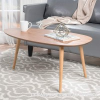 Caspar Natural Wood Coffee Table - B01N12C42Y