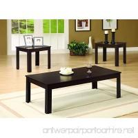 Coaster Casual Walnut Three Piece Occasional Table Set - B004JK6EI4