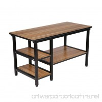 Coffee Station Table Black Metal Legs with Storage Shelves for Living Room Station from BARBALL - B073MD1F5V