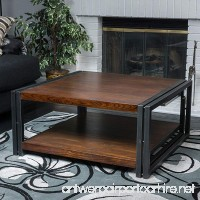 Contemporary/ Modern Mayfair Dark Oak Wood Coffee Table (296327). 16.50 in High x 36 in Wide x 36 in Deep - Assembly Required - B01F9XMHJE