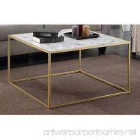 Convenience Concepts Gold Coast Faux Marble Coffee Table - B06XFQX4SL