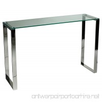 Cortesi Home Remi Contemporary Glass Console Table with Chrome Finish - B00VGWHBYO