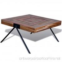Festnight Square Coffee Side Table Solid Reclaimed Teak Wood Handmade for Home Office Living Room Furniture Decor - B077GR1QMX