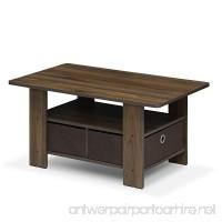 Furinno 11158CWN/DBR Andrey Bin Drawer Coffee Table  Columbia Walnut/Dark Brown - B07FKVQLNK