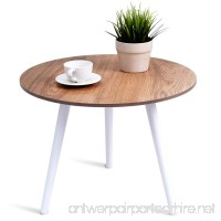 Giantex Coffee Table Round Modern Wood Table Pine Furniture Environmentally For Magazines  Books & Plants Side Table Round Table - B07B45V1BG