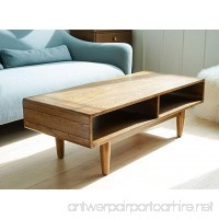 Haven Home Zane Mid-Century Coffee Table - Walnut - Rectangular Sofa Table - Wood Table - B078NM8NWG