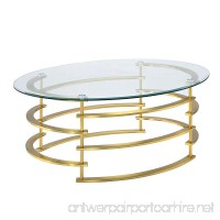 HOMES: Inside + Out IDF-4359GL-C Natalie Coffee Table Gold - B075F6K4SG