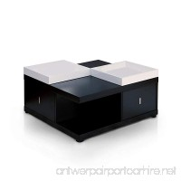HOMES: Inside + Out ioHOMES Morgan Square Coffee Table with Serving Tray  Black - B008XEW6U2