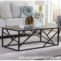 "Homissue 44"" Industrial Style Coffee Table  Rectangular Cocktail Table with Sturdy Metal Base for Living Room  Retro Brown Finish - B0785LDW5T"