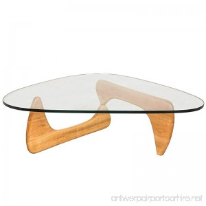 LeisureMod Imperial Triangle Coffee Table Natural Wood - B00QM96DOU