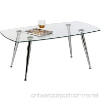 Mango Steam Pacifica Coffee Table - Radius - Clear Tempered Glass Top and Chrome Tube Base - B01N5HHLP0