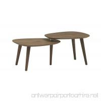Rivet Allyson Mid-Century Two-Shelf Adjustable Coffee Table Walnut - B072ZK885D