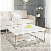 Safavieh Home Collection Malone White and Chrome Coffee Table - B00NO87WUQ